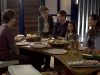 "TERRA NOVA:  The Shannon family (L-R:  Landon Liboiron, Naomi Scott, Jason O'Mara, Alana Mansour and Shelley Conn) enjoys dinner together in the ""Instinct"" episode of TERRA NOVA  airing Monday, Oct. 3 (8:00-9:00 PM ET/PT) on FOX.  ©2011 Fox Broadcasting Co.  Cr: Brook Rushton/FOX"