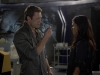 "TERRA NOVA:  Jim (Jason O'Mara, L) helps Elisabeth (Shelley Conn, R) remember the details of her life after a mysterious virus causes her to lose her memory in the ""What Remains"" episode of TERRA NOVA airing Monday, Oct. 10 (9:00-10:00 PM ET/PT) on FOX.  ©2011 Fox Broadcasting Co.  Cr:  Brook Rushton/FOX"